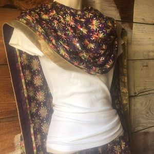 Accessories - 3/$25 Sale! Gorgeous Embroidered Sequin Scarf